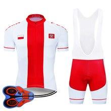 2021 equipe polónia ciclismo roupas 9d conjunto mtb jérsei roupas de bicicleta ropa ciclismo secagem rápida bicicleta wear masculino curto maillot culotte