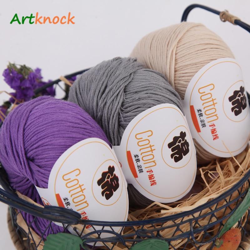 Wholesale 100% Cotton Yarn Baby Wool Yarn Yarn For Knitting Children Hand Knitted Yarn Knit Sweater Crochet Warm DIY 35pcs/lot