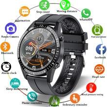 Reloj inteligente deportivo IP68 para hombre, dispositivo con pantalla completamente táctil, conexión Bluetooth, resistente al agua, para Android e ios, 2021