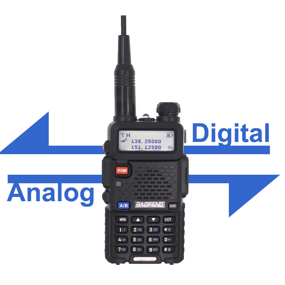 Baofeng DM-5R PLUS TierI TierII Tier2 repetidor Digital Walkie Talkie DMR de dos vías VHF / UHF radio banda Dual DM5R radio PLUS Antena de Quad Band de Radio móvil, 144/220/350/440MHz, para walkie talkie de coche QYT KT-7900D, antena móvil de ANT-7900D