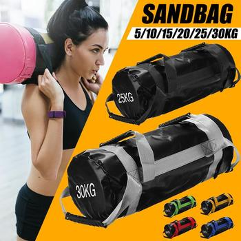 5-30KG waga torba z piaskiem podnoszenie ciężarów Sandbag Fitness Crossfits trening siłowy Heavy Duty Gym waga torba z piaskiem MMA boks tanie i dobre opinie CN (pochodzenie) Kategoria z worków z piaskiem Other Weight Sand Bag