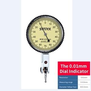 Image 2 - Draagbare 0.01mm Hendel Indicator Schokbestendig Dial Test 0 0.8mm Dial Gauge Analoge Display Indicator Micrometer Meten gereedschap