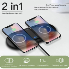 2 IN 1 10W Qi Wireless Charger for Samsung S9 S10 iPhone X X