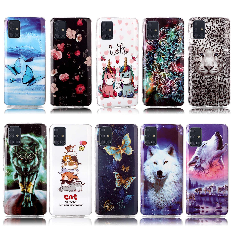 Téléphone portable couvre pour Galaxy S20 Ultra Telofon étoile loup coque souple Samsung S10E A50S S10 Plus S9 A50 S20 A30S A30