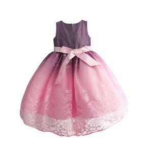Image 4 - فستان حفلات رائع للبنات مطرز بالدانتيل فساتين زفاف للأطفال فستان سهرة رسمي للأطفال ملابس للبنات 3 10T