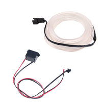 Haoyuehao Car Styling Ambient Light Interior Decoration Light EL Wire Easy Sew Flexible Led Neon Strip 12V Inverter Driver 2m