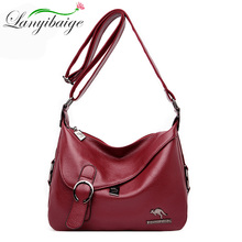 LANYIBAIGE High quality Women leather Messenger bag Shoulder Bags for handbags sac main femme Crossbody bag designer bags tote