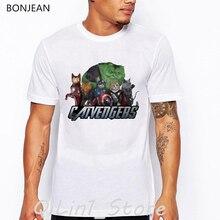 new arrival 2019 dog/cat animal print t-shirt men Marvelous Infinity War End Game tops tee shirt homme funny t shirts men men abstract animal print tee