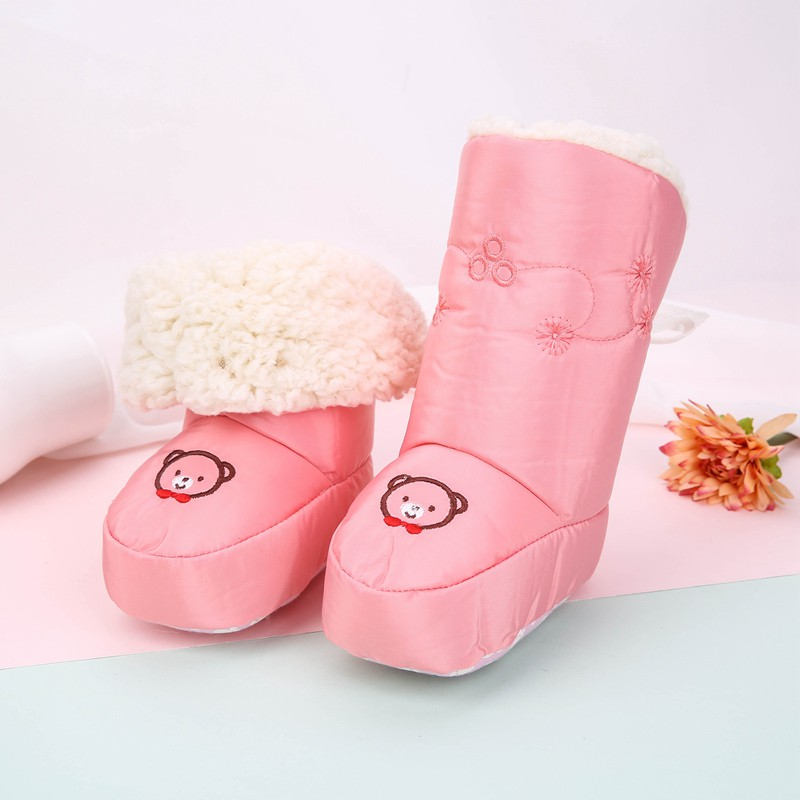 Baby Winter Boots Infant Newborn Bear Shoes Girls Boys First Walkers Warm Snowfield Booties Boy Waterproof Boot 0-12M