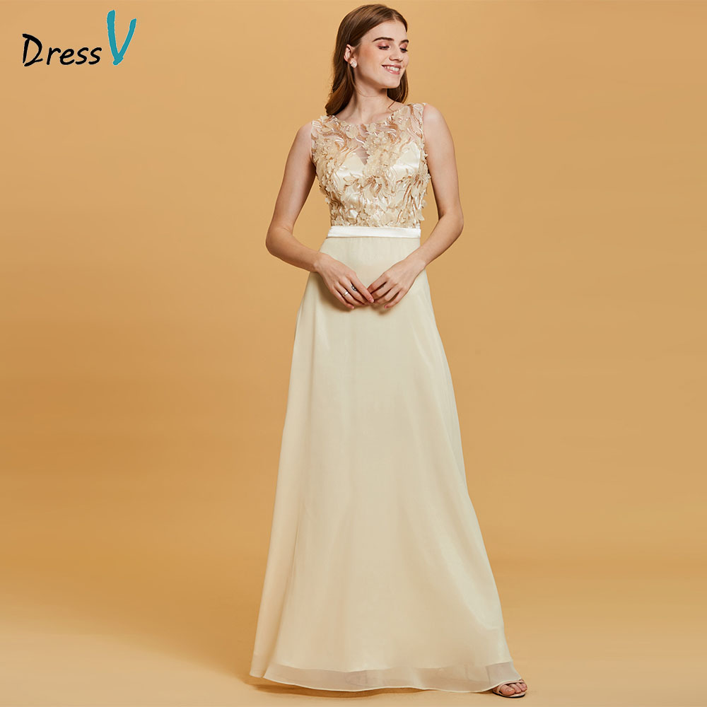 Dressv Sequins Evening Dress Daffodil Flowers Sleeveless A Line Floor Length Dresses Women Scoop Formal Prom Long Evening Gown