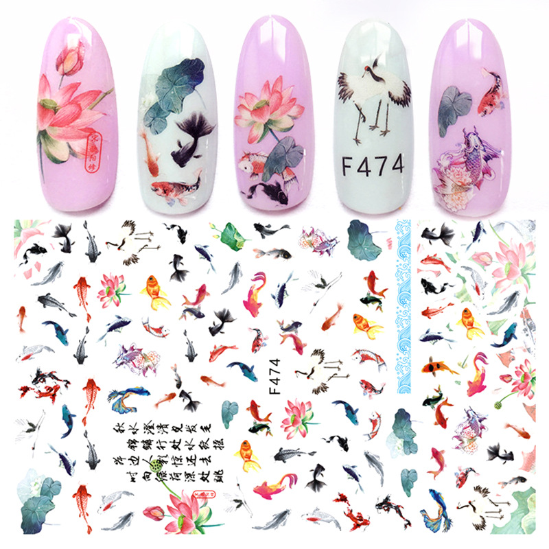 Douyin Celebrity Style Fashion Online Celebrity Manicure Online Celebrity Character Nail Sticker Free DIY Artistic Nail Sticker