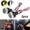 2pcs 12V Motorcycle LED Turn Signal Grip Tail Light Side Marker Light Flasher Waterproof Brake Warning Eagle Eye Indicator