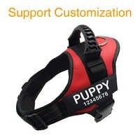 Dog Harness Dog ID Tag Custom Dog Harness K9 Dog Name Collar Vest Custom Label Reflective Dog Name Tag Label Pet Supplies