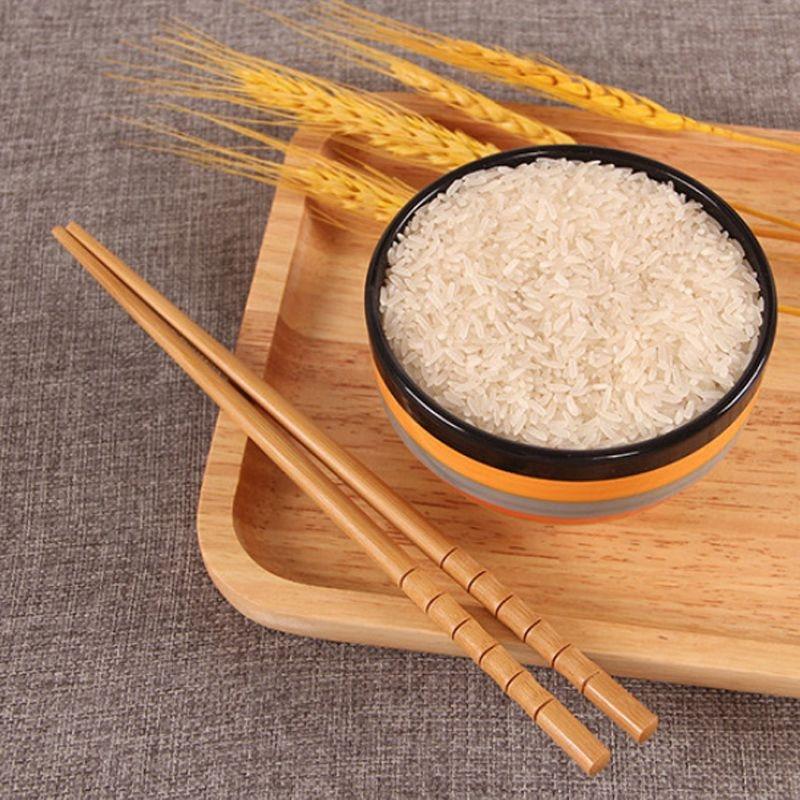 Палочки для еды ручной работы из натурального бамбука, многоразовые китайские деревянные палочки для еды, карбонизация, столовая посуда дл...