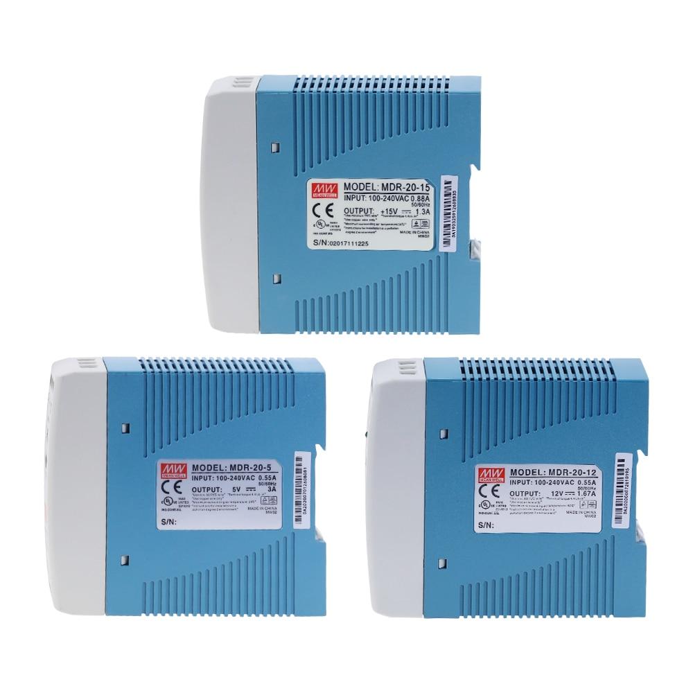 MDR-20 20W Single Output 5V 12V 15V 24V Din Rail Switching Power Supply AC/DC-1