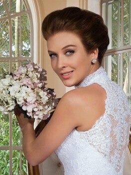 2020 Vestido De Noiva Renda Removable skirt Sexy Lace  Robe De Mariage Two Pieces Bridal Gown mother of the bride dresses 3