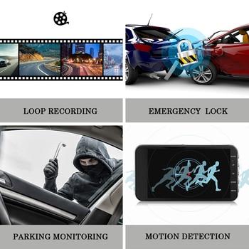 Car Family 4 Inch IPS Screen Car DVR Camera FHD 1296P Video Dash Cam Dual Lens 170 Degree Dash Cam LED Recording Night Version