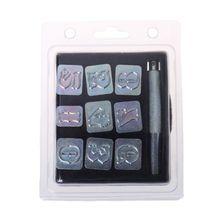 9pcs Steel Number Stamp Punch Set DIY Leather Craft Metal Punching Tools Kit цена