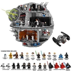 В наличии 05063 Звездные войны, Звезда смерти 4016 шт модель строительные блоки кирпичи игрушки совместимы с 10188 75159