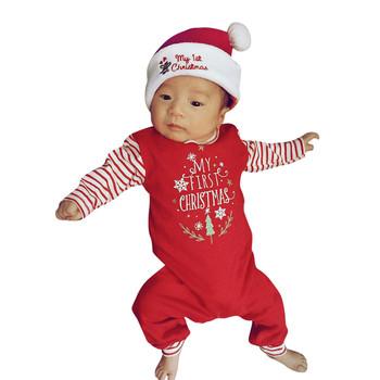 Boże narodzenie pajacyki boże narodzenie noworodek dziewczynki chłopcy list pajacyki kombinezon zestaw strój jesień ubrania dla dzieci Ropa Bebe Navidad tanie i dobre opinie COTTON Poliester CN (pochodzenie) Unisex W wieku 0-6m 7-12m 13-24m 25-36m 3-6y Drukuj O-neck Swetry Pełna Rompers Pasuje prawda na wymiar weź swój normalny rozmiar