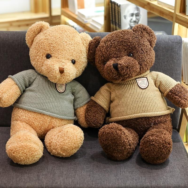 Sweater Bear Doll Doll Warm Hands Pillow Cute Child Bear Doll Birthday Present