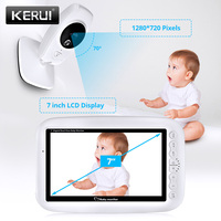 7 inch Nanny Baby Monitor 720P Wireless High Resolution Video Night Vision Up to 4 Cameras Paired Baby Camera Temperature Sensor
