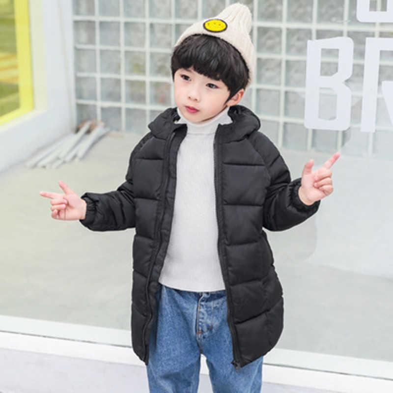 2019 חורף בגדי ילדים בנים ובנות ארוך מעיל העבה מעיל חם מעיל מתאים לחורף קר