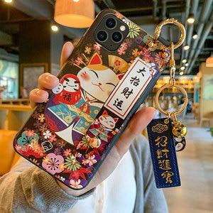 Image 2 - מזל חתול צמיד TPU טלפון נייד מקרה עבור Huawei P30 P40 מגן כיסוי עבור nova3 4 5 honor20pro סיליקון מקרי פגז
