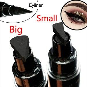 Image 1 - Große/Kleine Eyeliner Stempel Kosmetik Flüssigkeit Wasserdicht Eye Liner Stift Eyeliner mit Marker Pfeile Schablone Liner Bleistift für Augen