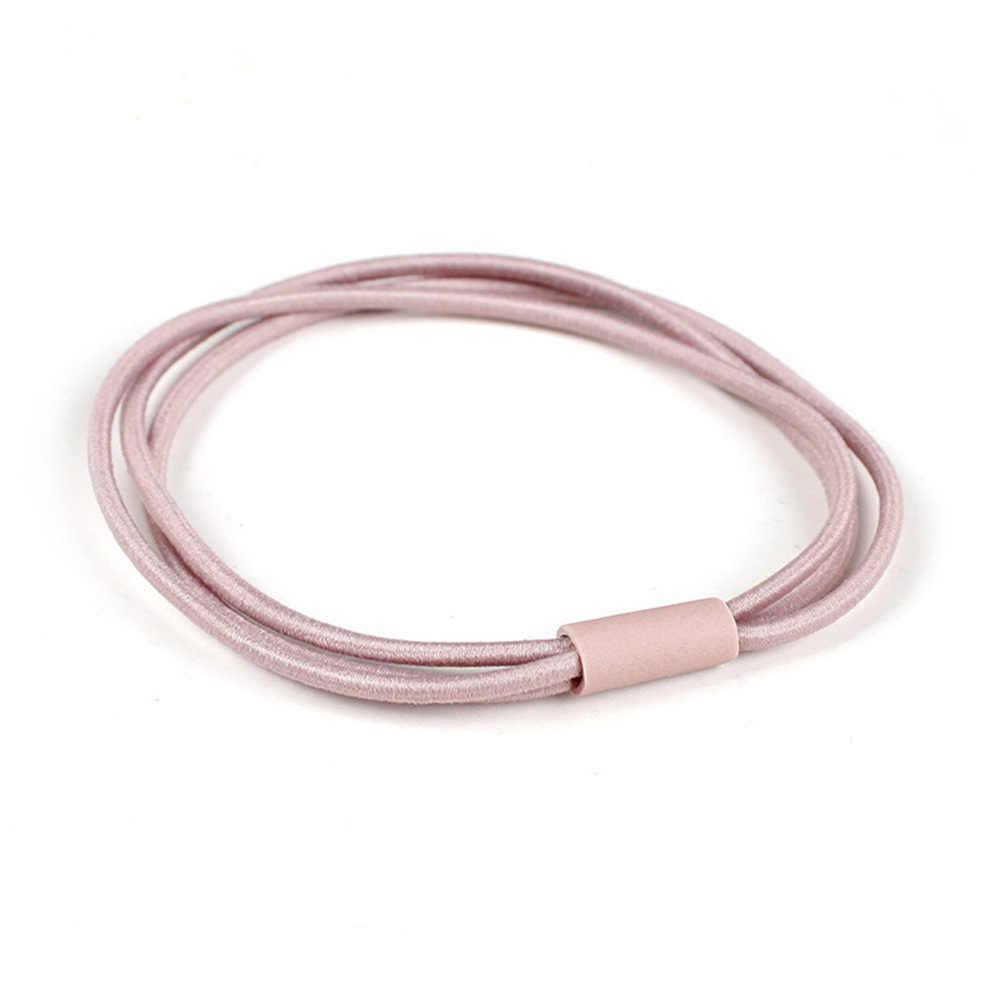韓国スタイル 3 層高弾性基本ロープ指輪シンプルで多彩な Diy ヘアネクタイヘアアクセサリー女性のための女の子