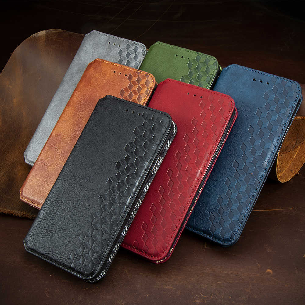 Magnetische Leather Case Voor Iphone 11 Pro Xs Max Se 2020 Xr X 7 8 6S 6 Plus Pu wallet Flip Stand Cover