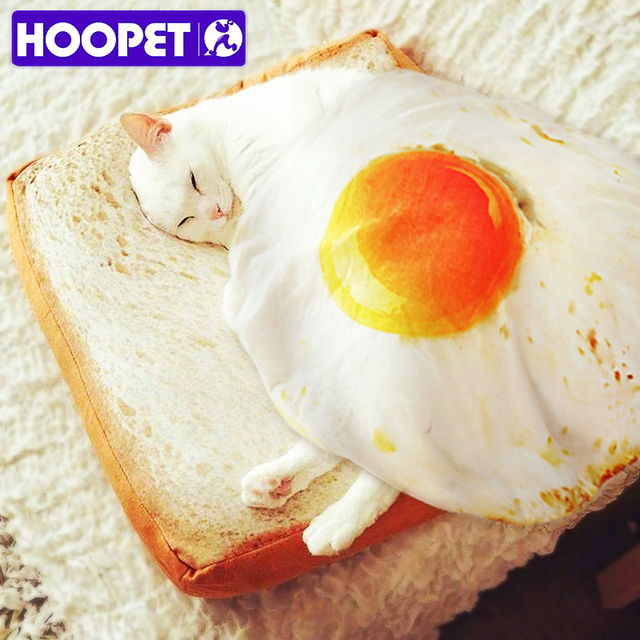 Soft Bread Bed and Fried Egg Blanket for Cats