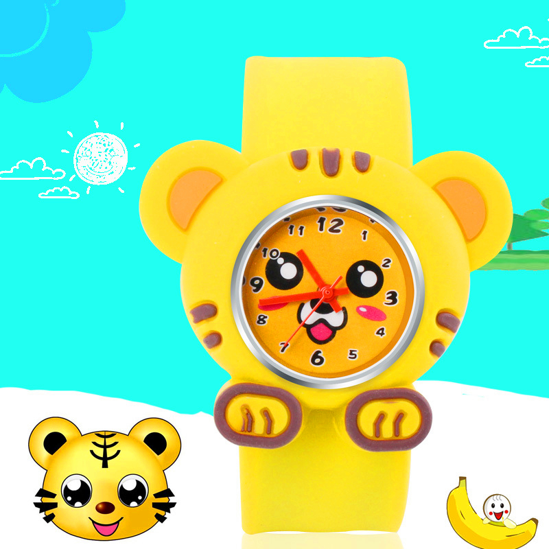 Kids Watches 3D Tiger Cartoon Rubber Child Watch Cut Electronic Clock Children Digital Watch Montre Enfant For Girls Boys Gift