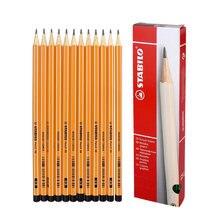 12 pçs/caixa lápis stablio 88 lápis hb 2b desenho conjunto de lápis grafite esboçar lapis grafite material escolar artigos de papelaria