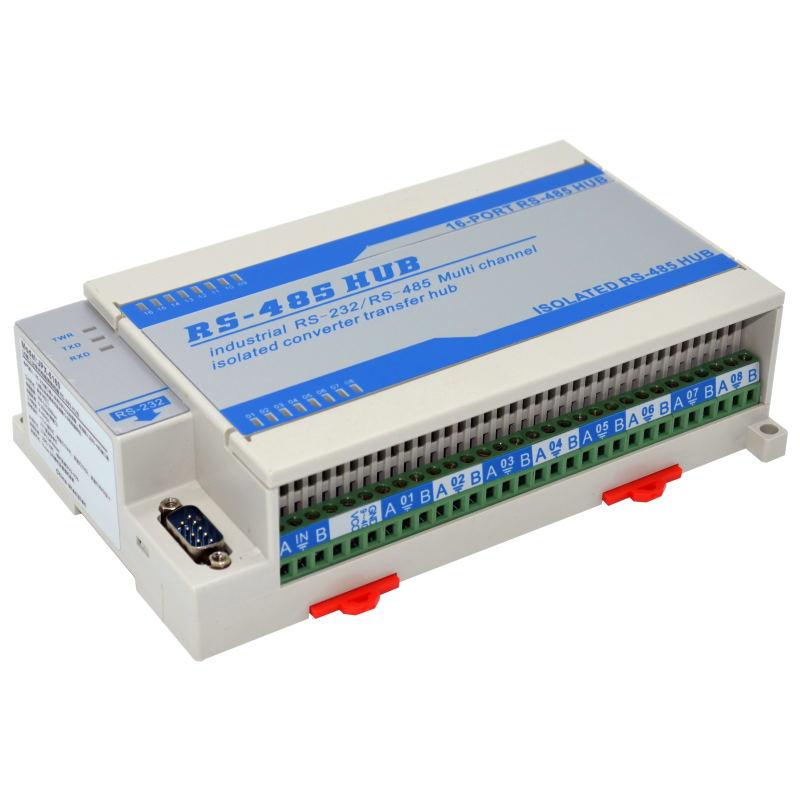 Isolated Bidirectional Lightning Protection 16 Way 16 Port RS485 Hub Sharing Device Splitter