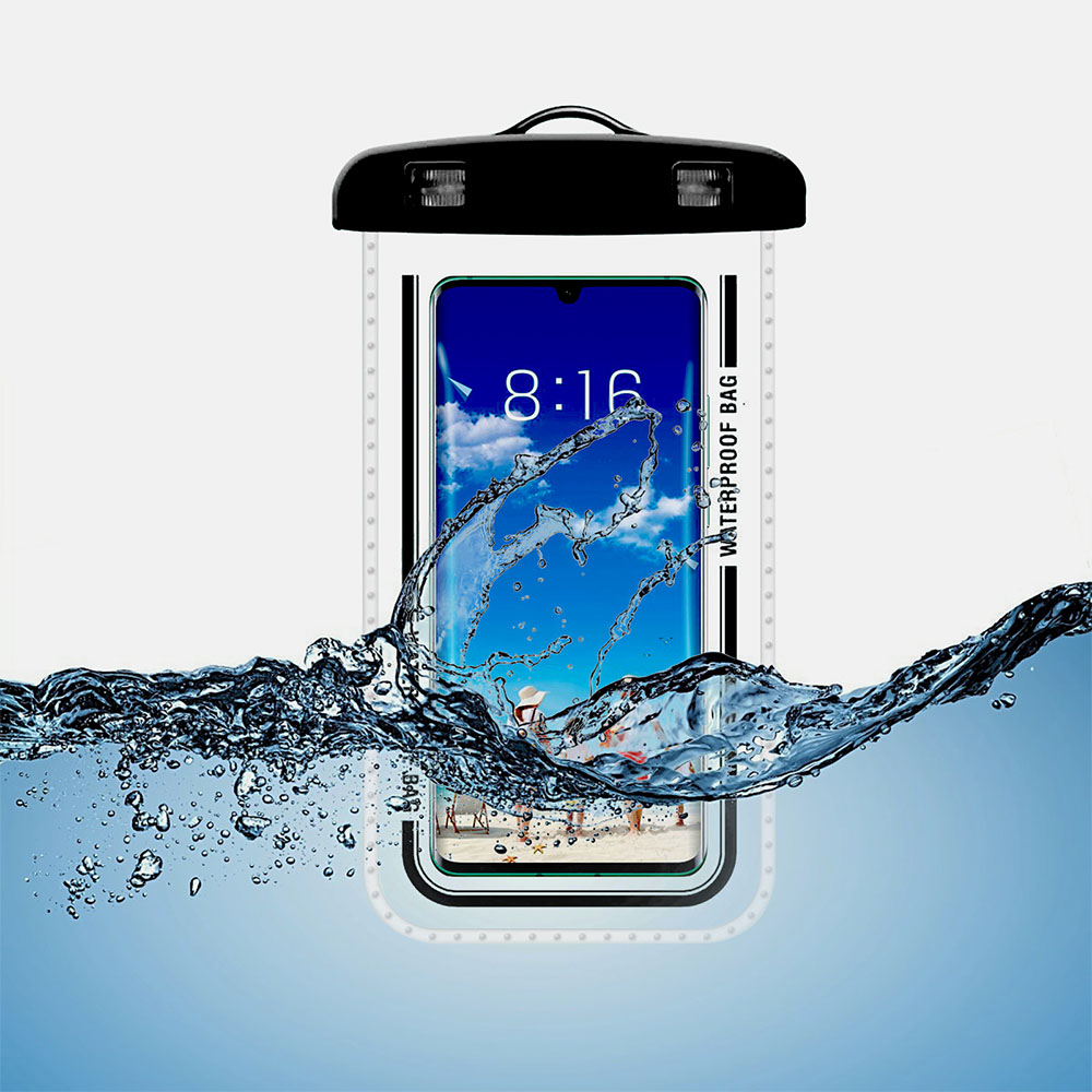 Hc04d0c1631cb45329e5c7459805f63c2M - Waterproof Phone Pouch Drift Diving Swimming Bag Underwater Dry Bag Case Cover For Phone Water Sports Beach Pool Skiing 6 inch