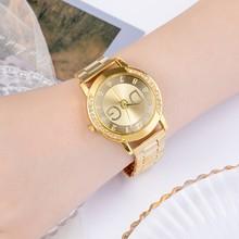 DG europejska i amerykańska duża marka panie oglądać luksusowe pełna diament panie mody panie zegarek kwarcowy ze stali nierdzewnej tanie tanio UT KAFTLN QUARTZ Sprzączka CN (pochodzenie) STOP 3Bar Moda casual 19mm ROUND Odporne na wodę Hardlex DG-01 23cm bez opakowania