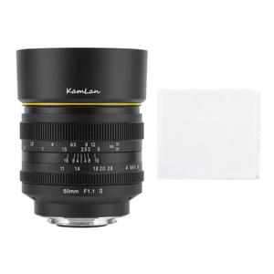 Image 3 - Kamlan 50mm f1.1 II APS C 캐논 M/Sony E/Fuji X/M43 미러리스 카메라 용 대형 조리개 수동 초점 렌즈 Lente para celular