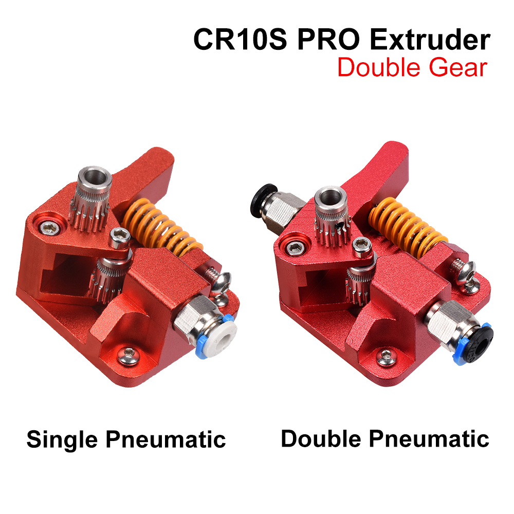 CR10S PRO Dual Gear Extruder Upgrade MK8 Extruder for Ender 3 5 CR10S PRO 1 75mm 3d Printer Parts Feed double pulley Extruder