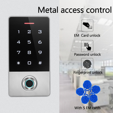 Metal fingerprint access control machine EM/MF card access control waterproof access control belt 5 Keyfobs