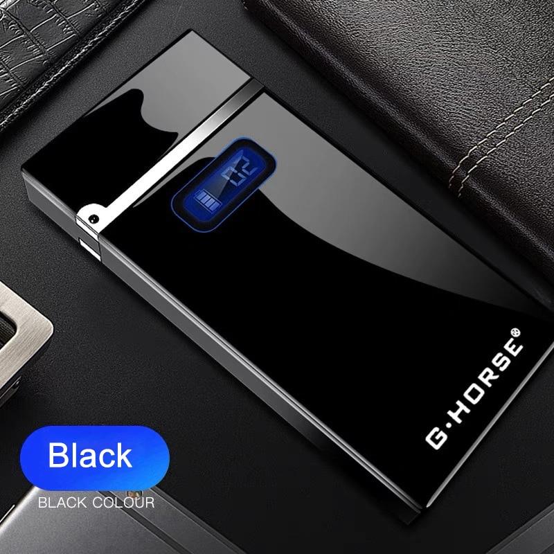 2020 USB перезаряжаемая зажигалка с светодиодный дисплеем питания ветрозащитные дуговые Плазменные зажигалки гаджеты для мужчин USB прикурива...