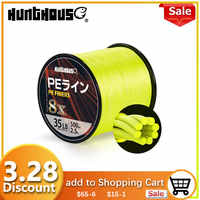 Hunthouse PE line Braided Fishing Line 8 Stands Super Strong line Multifilament fishing braid line 300m 500m1000m