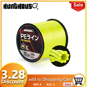 Hunthouse PE line Braided Fishing Line 8 Stands Super Strong line Multifilament fishing braid line 300m 500m1000m 2018 hot fishing line 4 series pe strong horse line 500 m anti bite line fishing line