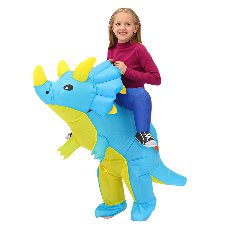 90-120cm Kids Purim Party Cosplay Costumes Toy Animal Child Suit Anime Inflatable Dinosaur Costume Boys Girls Costume Cool Gift