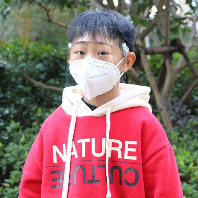 Transparent Anti-saliva Dust-proof Protect Full Face Covering Mask Visor Shield Protection Masks Available for adults and Child 5
