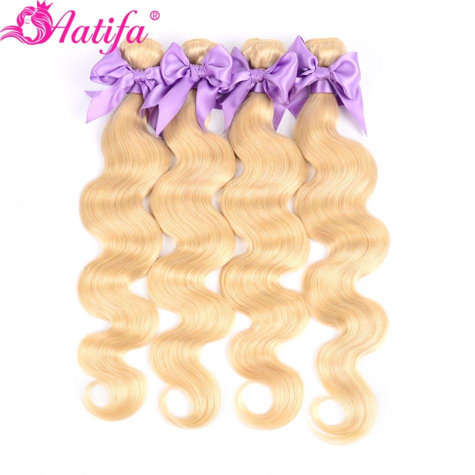 Honey Blonde Peruvian Body Wave Hair Bundles 100% Remy Human Hair 1/3/4 Bundles 8-28 Inch 613 Honey Blonde Hair Extensions