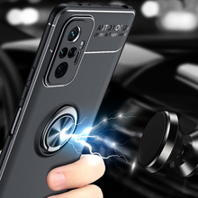 Car Magnetic magnet Case For Xiaomi Redmi Note 10 Pro Ring Holder Finger Grip Soft TPU Cover