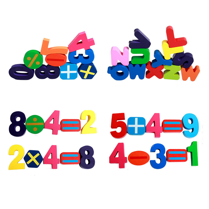 Wooden 3D Puzzle Number Letter Jigsaw Educational Developmental Toddler Kids  Learning Training