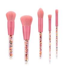 5 Branch Candy Makeup Brush Set Grain Transparent Handle Beautiful Make Up Tool