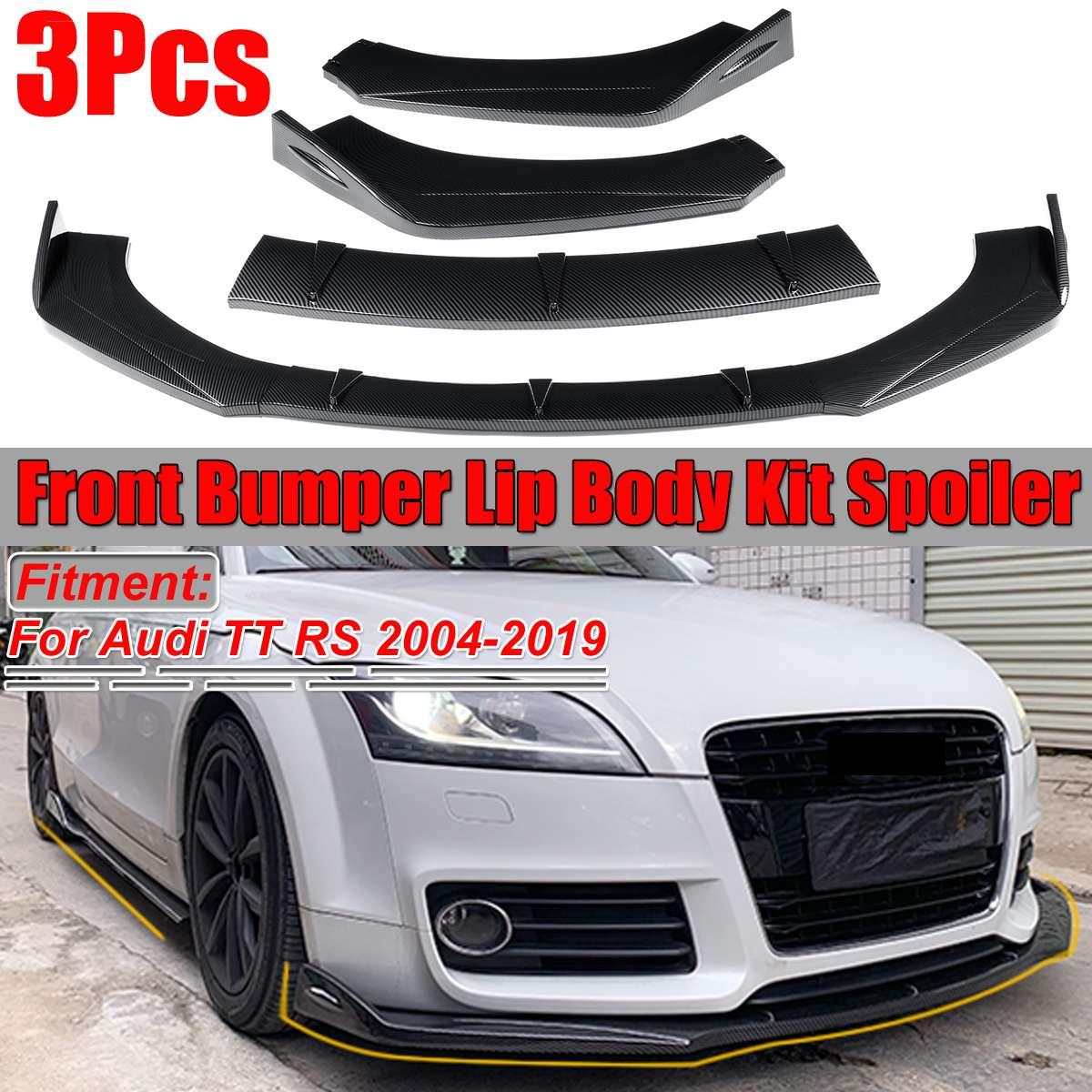 Fibre de carbone Look/brillant/noir mat voiture avant pare-chocs séparateur lèvre corps Kit becquet diffuseur protecteur pour Audi TT RS 2004-2019